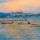 Pastel Bay by John Rivera