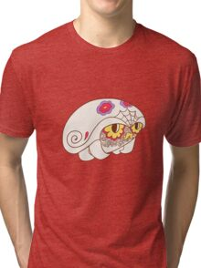Kabuto Popmuerto | Pokemon & Day of The Dead Mashup Tri-blend T-Shirt
