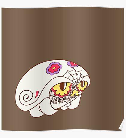 Kabuto Popmuerto | Pokemon & Day of The Dead Mashup Poster