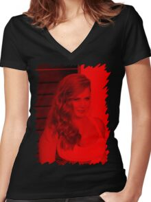 Amy Adams - Celebrity Women's Fitted V-Neck T-Shirt