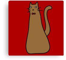 Long Brown Cat Canvas Print