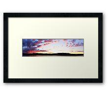sunset panorama Framed Print