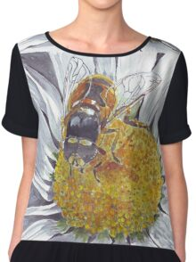The Hoverfly and the Daisy Chiffon Top