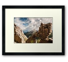 A War with a View Framed Print