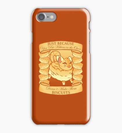 Kitty Biscuits - Brown iPhone Case/Skin