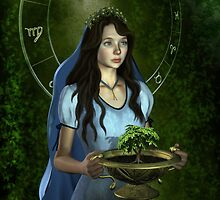 Virgo zodiac fantasy circle by Britta Glodde