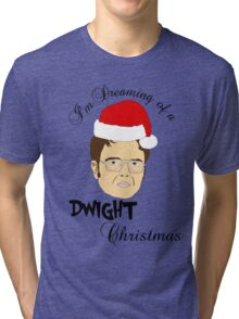 Dwight Christmas  Tri-blend T-Shirt