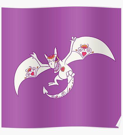 Aerodactyl Popmuerto | Pokemon & Day of The Dead Mashup Poster