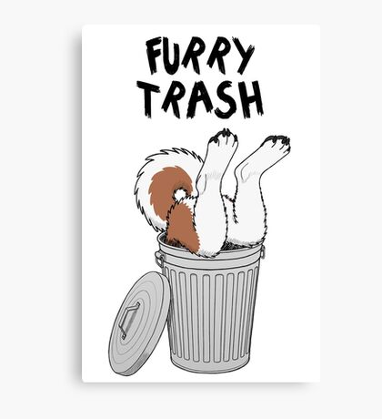 Furry Trash - Red Husky/Malamute Canvas Print