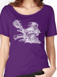 Crank (White Outline) Women's Relaxed Fit T-Shirt