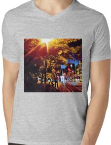 Downtown Mens V-Neck T-Shirt