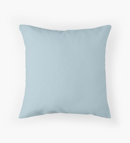 Soft Chalky Pastel Blue Solid Color Throw Pillow