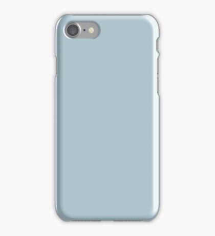 Soft Chalky Pastel Blue Solid Color iPhone Case/Skin