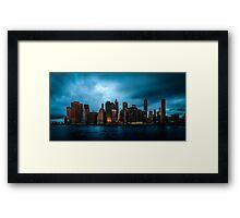 Manhattan At Dawn Framed Print