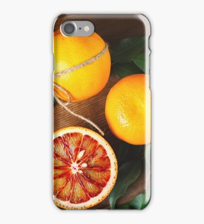 Blood orange fruit close up  iPhone Case/Skin