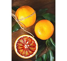 Blood orange fruit close up  Photographic Print