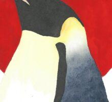 Red Sun Emperor Penguin Sticker