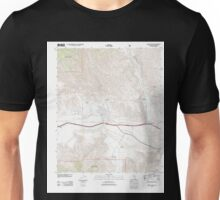 USGS TOPO Map California CA White Water 20120321 TM geo Unisex T-Shirt