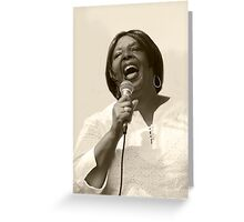 Singing With Heart & Soul Greeting Card