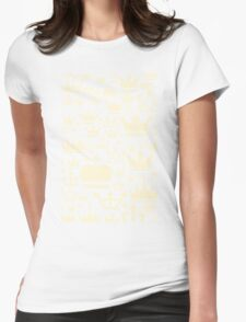 Crown a background Womens Fitted T-Shirt