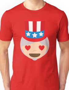 "Uncle ""The Emoji"" Sam Heart and Love Eyes Unisex T-Shirt"