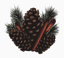 Pinecones and Cinnamon Sticks Kids Tee