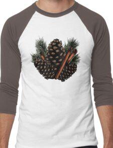 Pinecones and Cinnamon Sticks Men's Baseball ¾ T-Shirt