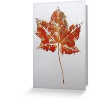 Maple Leaf Print 1 Greeting Card