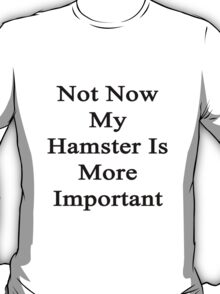 Not Now My Hamster Is More Important  T-Shirt