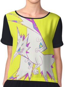 Zapdos Popmuerto | Pokemon & Day of The Dead Mashup Chiffon Top