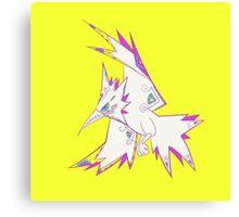 Zapdos Popmuerto | Pokemon & Day of The Dead Mashup Canvas Print