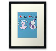 I Heart Mew Framed Print