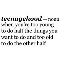 Teenagehood Photographic Print