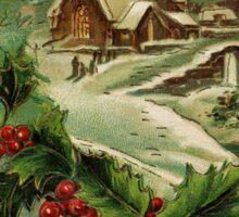 Country Church in Winter Sticker