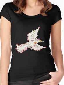 Moltres Popmuerto | Pokemon & Day of The Dead Mashup Women's Fitted Scoop T-Shirt