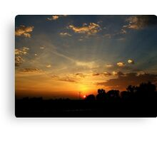 Sundown Show Canvas Print