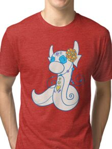 Dratini Popmuerto | Pokemon & Day of The Dead Mashup Tri-blend T-Shirt