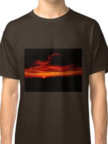 Sunset and stormy clouds Classic T-Shirt