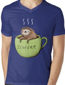 Sloffee Mens V-Neck T-Shirt