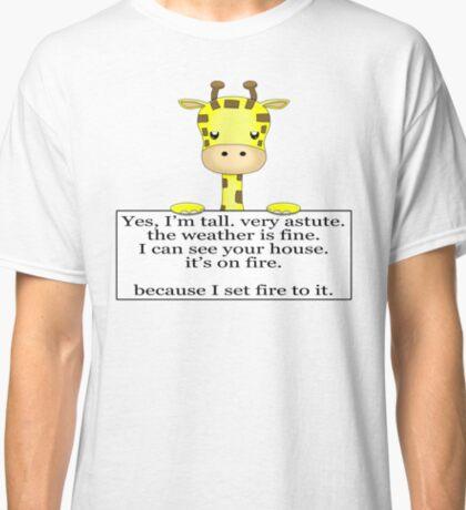 Annoyed Giraffe Classic T-Shirt