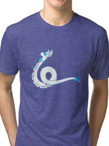 Dragonair Popmuerto | Pokemon & Day of The Dead Mashup Tri-blend T-Shirt