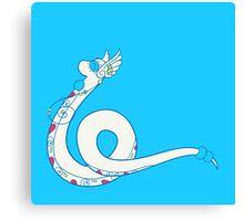 Dragonair Popmuerto | Pokemon & Day of The Dead Mashup Canvas Print