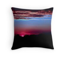 Blue sunset Throw Pillow