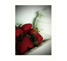STRAWBERRIES and CREAM Art Print