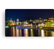 Blue Mountain Village at night Canvas Print
