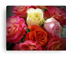 ROSES in COLOR Canvas Print