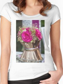decoration with flowers Women's Fitted Scoop T-Shirt