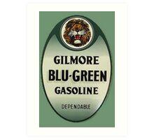 Gilmore Blu-Green Gasoline Art Print