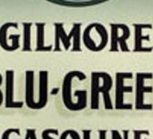 Gilmore Blu-Green Gasoline Sticker