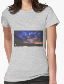 Moody Clouds Overhead Womens Fitted T-Shirt